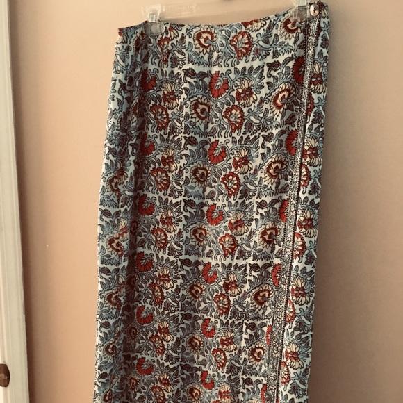 J. Jill Dresses & Skirts - J Jill Size 12 Faux Wrap Skirt